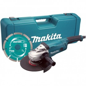 MAKITA GA9020KD Γωνιακός τροχός (Φ230mm-2200W)  σε πλαστική βαλίτσα & Διαμαντόδισκο 230mm