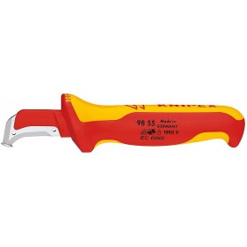 KNIPEX Μαχαίρι με μόνωση VDE 1000V 185mm(οδηγό παπούτσι κοπής) (9855)