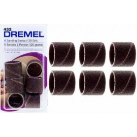 DREMEL (432) Ταινία λείανσης 13 mm, μέγεθος κόκκων 120 - 6 τμχ (2615043232)