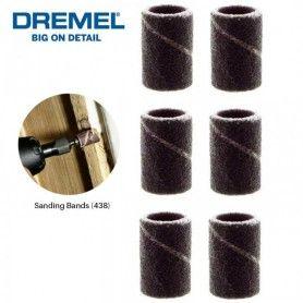 DREMEL (438) Ταινία λείανσης 6,4 mm, μέγεθος κόκκων 120 - 6 τμχ (2615043832)