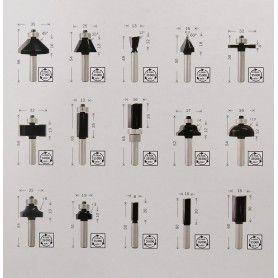 BOSCH Σετ Φρέζες για Ρούτερ Φ8mm - 15 Τμχ (2607017472)