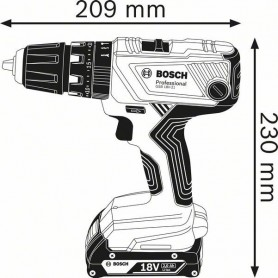 BOSCH GSB 18V-21 Professional Κρουστ. δραπαν/βιδο μπαταρίας (06019H1102)