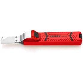 KNIPEX 1620165SB Απογυμνωτής με μαχαίρι & αγκιστρωτή 165mm