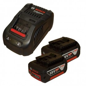 BOSCH GBA 18V Σετ Φορτιστή GAL 1880 CV και 2 Μπαταριών 18V 6.0Ah