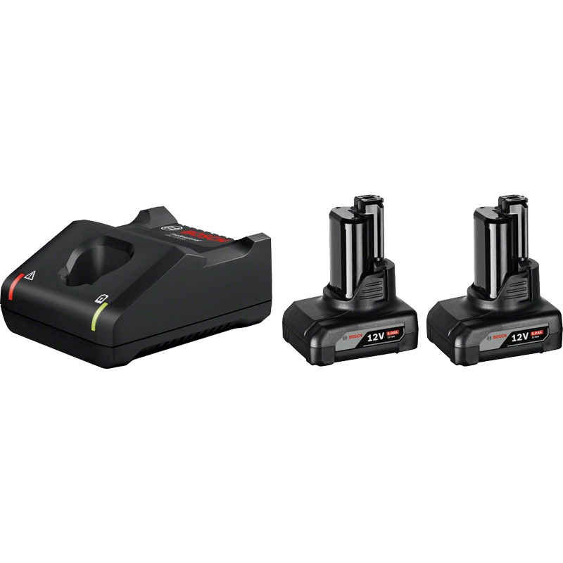 BOSCH Kit - 2 x GBA 12V 6.0Ah + GAL 12V-40 Professional