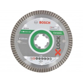 BOSCH Διαμαντόδισκος κοπής X-LOCK Best for Ceramic Extraclean Turbo 125x22,23x1,4x7