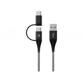 SAS ΚΑΛΩΔΙΑ USB DURABLE LINE 2 ΣΕ 1 (Micro + Τype C) 1,2m