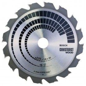 BOSCH Πριονόδισκοι Construct Wood 235x30mm - 16Δόντια