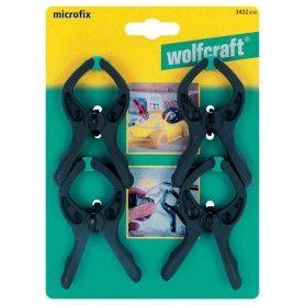 WOLFCRAFT  Σετ 4 Σφιγκτήρων ελατηρίου Μicrofix άνοιγμα 30mm - 3432000