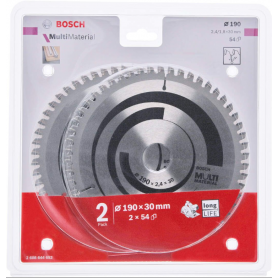 BOSCH ΣΕΤ ΔΙΣΚΩΝ για αλουμίνιο / πλαστικό Bosch πολλαπλών υλικών 190 x 30 x 2.4 mm. 54