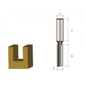 MAKITA D-09254 Φρέζα για Εγκοπές Προσαρμογής με Δύο Λεπίδες 6mm