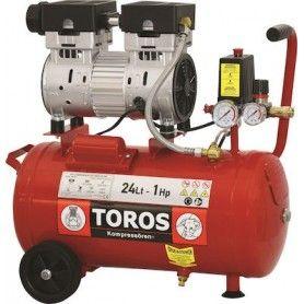 TOROS 40151 ΑΕΡΟΣΥΜΠΙΕΣΤΗΣ ΜΟΝΟΜΠΛΟΚ OIL FREE SILENT 24Lt 1.0HP